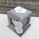 Shabby Chic PERSONALISED Rustic Wood In Memory Of GRANDAD Photo Cube ANY NAMES